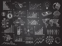 Scarabocchi dei grafici di informazioni Immagini Stock