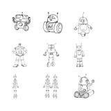 Scarabocchi del robot fissati Fotografia Stock Libera da Diritti