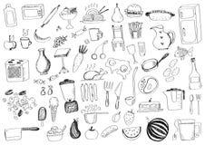 Scarabocchi dell'alimento Fotografia Stock