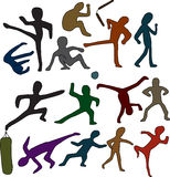 Scarabocchi di arti marziali Immagine Stock Libera da Diritti