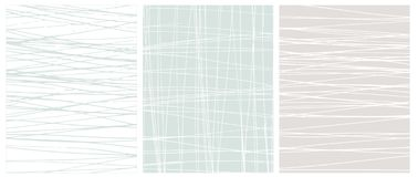 Scarabocchi disegnati a mano irregolari su Gray Vector Backgrounds bianco, blu e leggero royalty illustrazione gratis