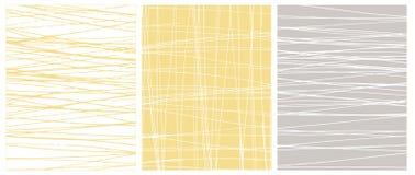 Scarabocchi disegnati a mano irregolari su Gray Vector Backgrounds bianco, giallo e leggero illustrazione vettoriale