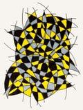 Scarabocchiando con le linee e tre colori Fotografia Stock Libera da Diritti