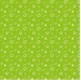 Scarabocchii il modello degli gnocchi e delle erbe dipinti a mano illustrazione vettoriale