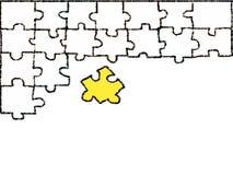 Scarabocchio bianco del puzzle che attinge fondo bianco illustrazione vettoriale