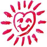 Scarabocchio con un cuore Fotografia Stock Libera da Diritti