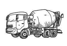 Scarabocchio del camion del cemento Immagine Stock