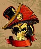 Scarabocchio del cranio dei pirati Fotografia Stock