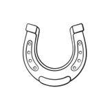 Scarabocchio del ferro di cavallo Fotografie Stock