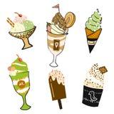 Scarabocchio del gelato Immagine Stock
