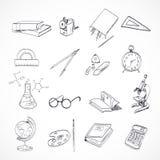 Scarabocchio dell'icona di istruzione Immagine Stock