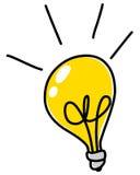Scarabocchio della lampadina Fotografie Stock Libere da Diritti