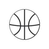 Scarabocchio della palla di pallacanestro Immagini Stock Libere da Diritti