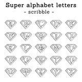 Scarabocchio delle lettere del superman Immagini Stock Libere da Diritti