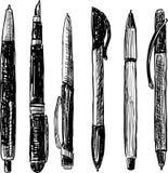 Scarabocchio delle penne Fotografia Stock Libera da Diritti