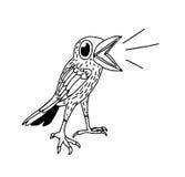 Scarabocchio disegnato a mano dell'uccello Fotografia Stock Libera da Diritti