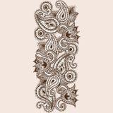 Scarabocchio disegnato a mano di Paisley e di Henna Mehndi Abstract Mandala Flowers Fotografia Stock Libera da Diritti