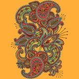 Scarabocchio disegnato a mano di Paisley e di Henna Mehndi Abstract Mandala Flowers Immagini Stock
