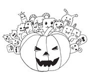 Scarabocchio Halloween Fotografia Stock Libera da Diritti