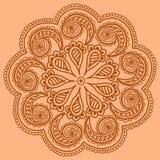 Scarabocchio rotondo ornamentale di progettazione del modello Fotografia Stock