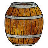 scarabocchio strutturato del fumetto di un barilotto di legno royalty illustrazione gratis
