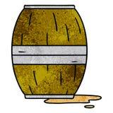 scarabocchio strutturato del fumetto di un barilotto di vino royalty illustrazione gratis