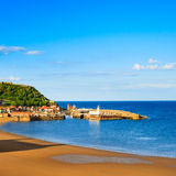 Scarborough beach, castle and harbour view Royalty Free Stock Photography