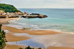 Scarborough beach and harbour Stock Photography