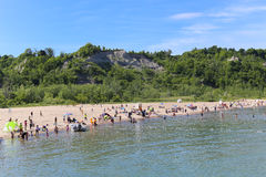 Scarborough Bluffs Beach stock images