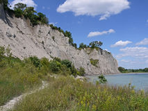 Scarborough Bluffs. Cliffs from below, Toronto Stock Photo