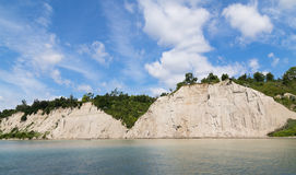 Scarborough Bluffs Cliffs. Part of the Scarborough Bluffs cliff face along Lake Ontario Royalty Free Stock Images