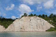 Scarborough Bluffs Cliffs. Part of the Scarborough Bluffs cliff face along Lake Ontario Royalty Free Stock Photography