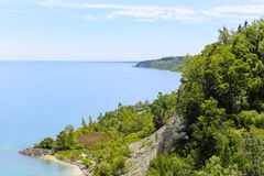 Scarborough Bluffs. High view from the top of Scarborough Bluffs in Toronto Royalty Free Stock Photography