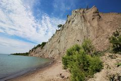 Scarborough Bluffs. On Lake Ontario just east of Toronto, in the former city of Scarborough Stock Photos