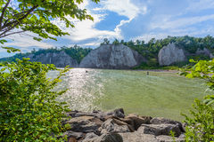 Scarborough Bluffs Park. Toronto. Scarborough Bluffs Lake view in Toronto, Canada Royalty Free Stock Image