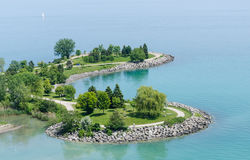 Scarborough bluffs , Toronto. Small island of scarborough bluffs , Toronto Stock Photography