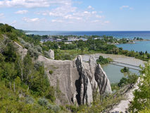 Scarborough Bluffs. View from Scarborough Bluffs to park and marina, Toronto Royalty Free Stock Images