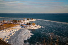 Scarborough Bluffs in the Winter Stock Photos