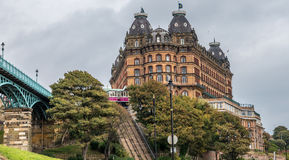 Scarborough buildings Royalty Free Stock Images