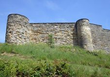 Scarborough Castle battlements Royalty Free Stock Photos