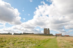 Scarborough castle and clouds Stock Photography