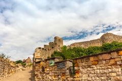 Scarborough Castle, a former medieval Royal fortress. stock photography
