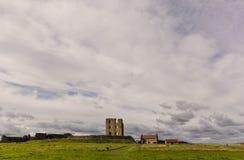 Scarborough castle. Landscape, copy space Royalty Free Stock Photos