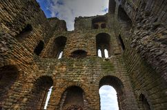 Scarborough Castle in North Yorkshire. royalty free stock photography