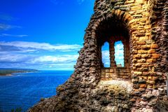 Scarborough Castle in North Yorkshire. stock photography
