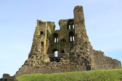 Scarborough Castle ruin Yorkshire England UK royalty free stock photography