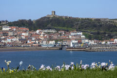 Scarborough Castle - Town and Harbor Royalty Free Stock Photography