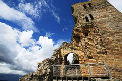 Scarborough Castle. In UK with clear sky Royalty Free Stock Photography