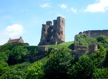 Scarborough Castle view royalty free stock photography
