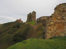 Scarborough Castle ruins. View of Scarborough Castle, Yorkshire, UK Stock Photos
